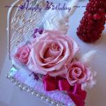 プレゼントはプリザーブドフラワーで手作り バラとピアノのアレンジ女子力アップ❣