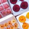 花 プリザーブドフラワー プレゼントを作るために棚卸