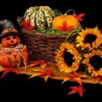 ハロウィンのフラワーアレンジメントの作り方 かぼちゃの色をメインに