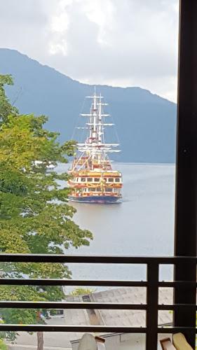芦ノ湖と遊覧船を上から見られるカフェはここだけ