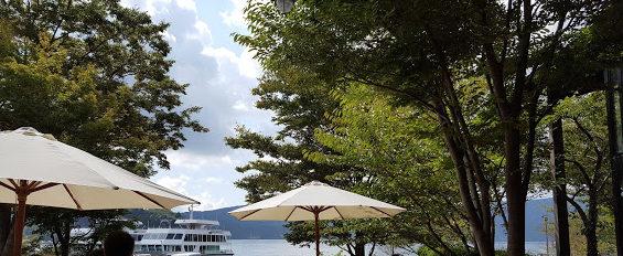 箱根テラスからの芦ノ湖