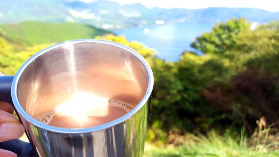 芦ノ湖を眺めながらtea break