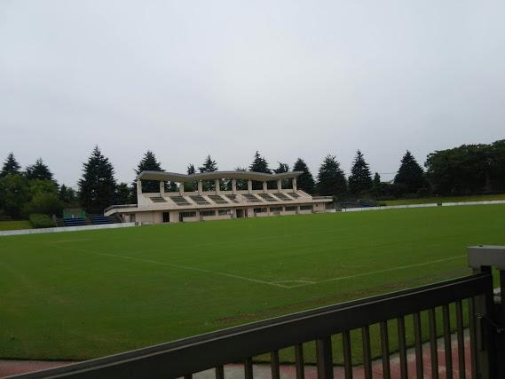 青々とした芝がスカッとするラグビー場