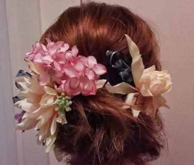 華やかな髪飾り
