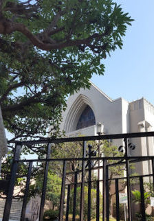 こじんまりとしたカトリック山手教会