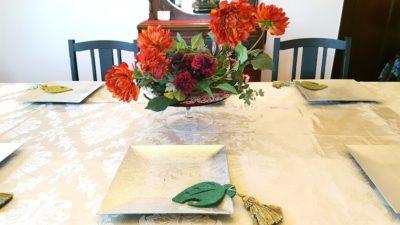 ダイニングテーブルの明るいアレンジ