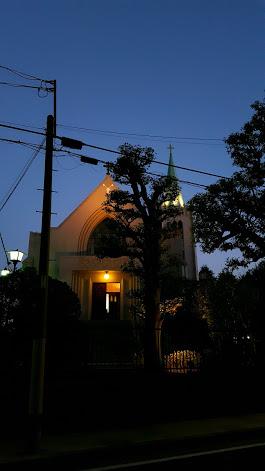 ライトアップされた山手教会