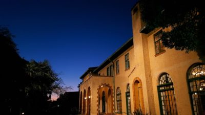 夕暮れのべーリックホール