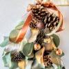 クリスマス飾り クリスマススワッグをユーカリ使って手作り