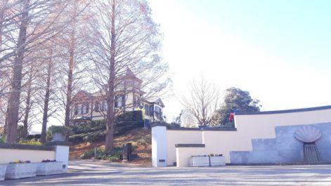 ブラフ18番から見る外交官の家
