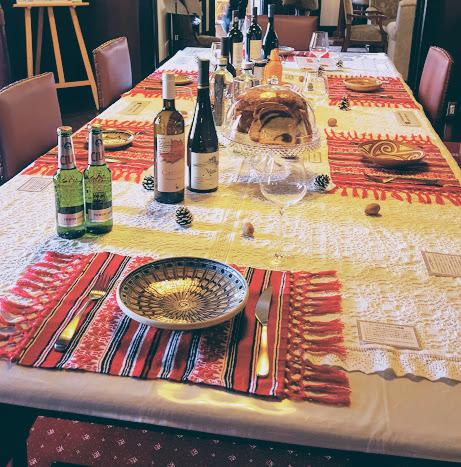 素朴なテーブルセッティング