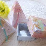 プレゼントの箱の作り方 簡単で丈夫 ラミネートフィルム利用
