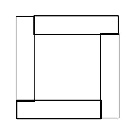 正方形の組み方