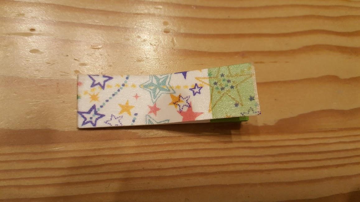 表までマスキングテープを続けて貼ります
