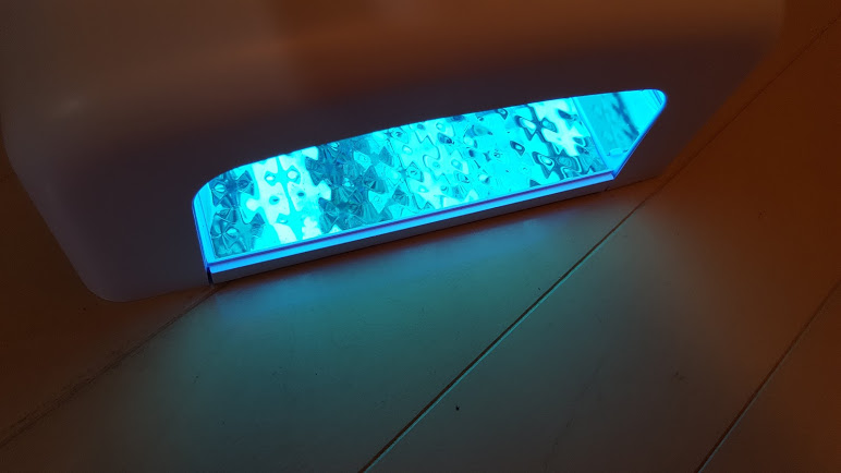 ライトで照射