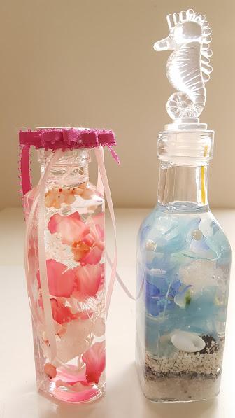 スクエアーボトルと円筒型ボトル