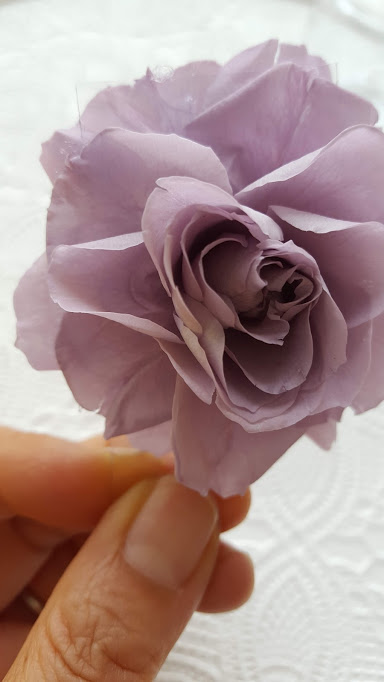 プラ板に付けたバラ
