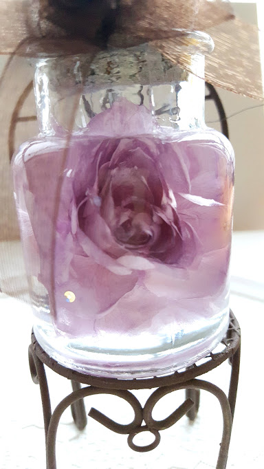 バラが良く見えるハーバリウム