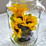 ハーバリウム ひまわりを入れて夏のフラワーアレンジ 花材と作り方