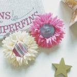 子供用ピン留めの作り方 赤ちゃんもOK 100均造花で簡単手づくり
