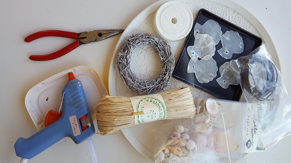貝殻風鈴の材料