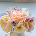 リボンローズの作り方と布で作る花 パーツとして使えます