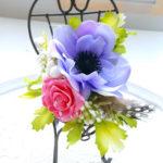 バザーのハンドメイドに最適 少しのお花で出来るインテリア