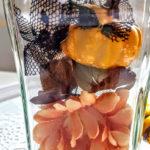 ハロウィン 花とかぼちゃでハーバリウムを作ってみました