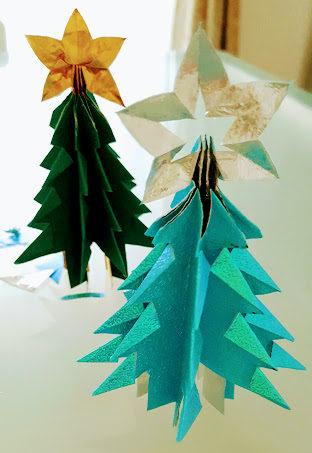 スター付きクリスマスツリー