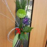 お正月 ドア飾りを手作り 生花を使った作り方