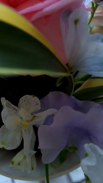 短い花は奥に挿す