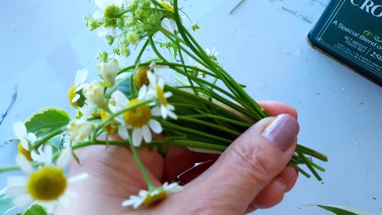 小花をまとめる