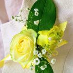 トゥーポイントコサージュの作り方 生花で手作り 付け方もご紹介します