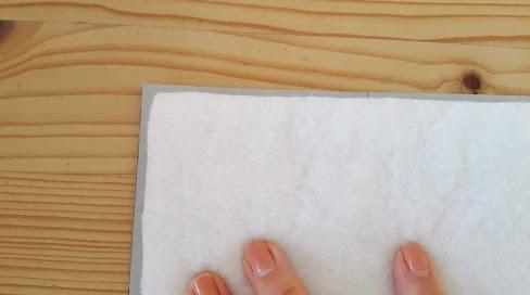 キルト芯を小さめに切る
