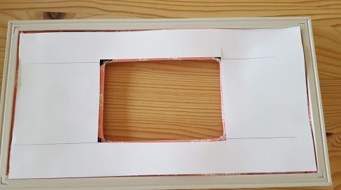 紙で裏側を覆う